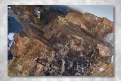 Siderit-Kryolith-Galenit, Abbildungsmassstab 3:1, Bildbreite 7,90 mm, Stack aus 75 Aufnahmen, Objektiv Zeiss Luminar 40 mm, Ivigtut / Grönland